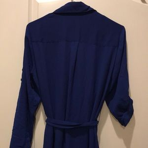 Express Dresses - Full sleeve Blue front Buttoned dress.